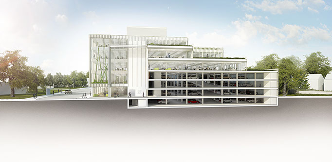 Alex Losada Sustainable Architecture Parking Office